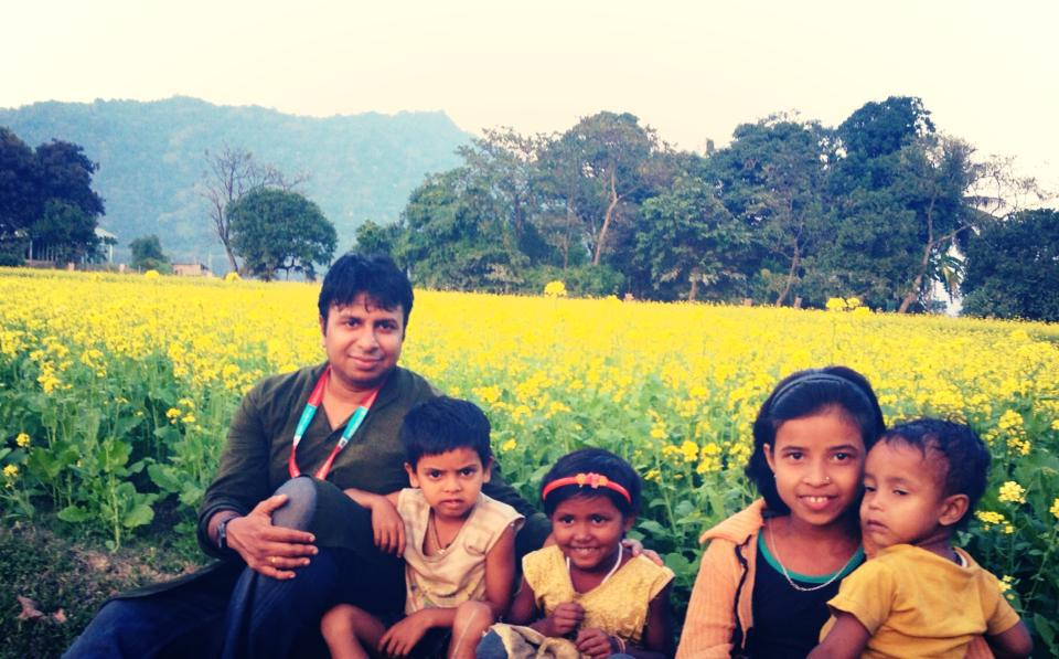 Catching some relaxing time with kids in Sundarban